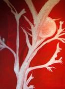 Corail rouge - acrylique sur toile
