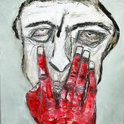la main rouge