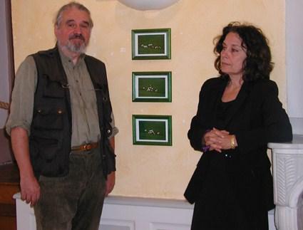 Martine Chifflot et Gérard Thélier, à Matour
