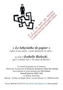 """""""le labyrinthe de papier"""" par Isabelle Bielecki"""