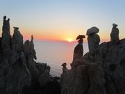 Land art en Corse sur les falaises de Porto - Corse 2010