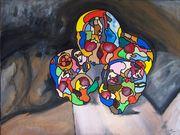 Pyramide de crânes Hommage à Paul Cézanne 61x46