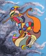 L'envol de la femme oiseau 60x73