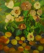 Hibiscus si fructe, pastel 49x38