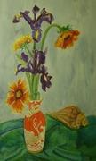 Irisi in vasul cu dragon, gouase 40x27
