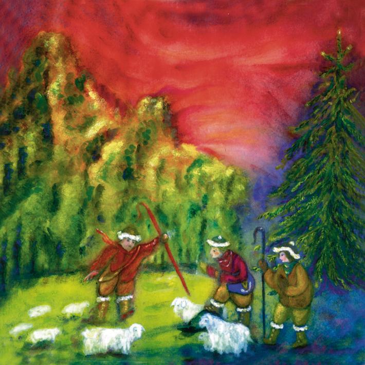 Les bergers gardaient leurs moutons