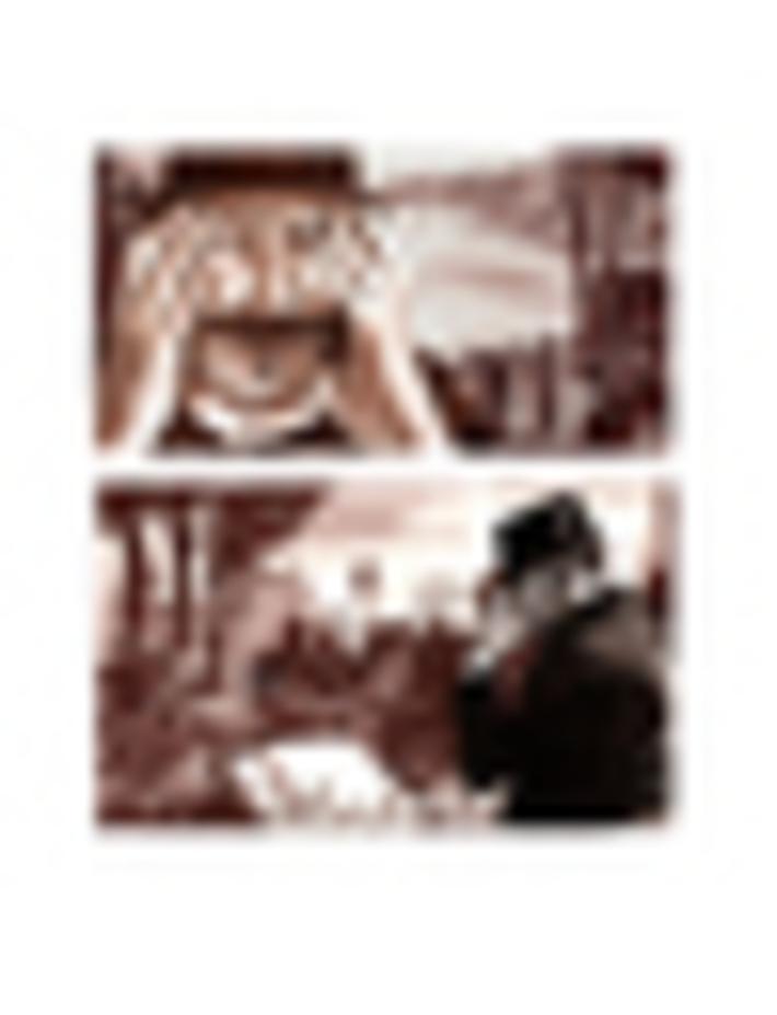 planche story board le mystère des désenchantées cimetière