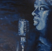 chanteuse de blues 60x60