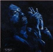 chanteur de blues 60x60