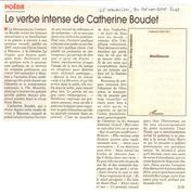 Le verbe intense de Catherine Boudet