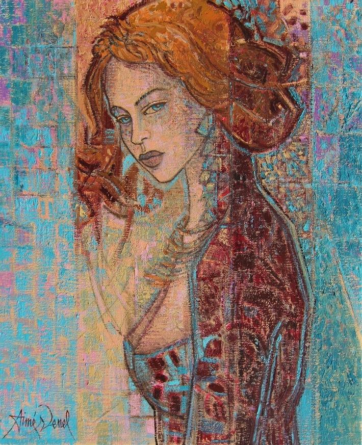 Anastasia , oil painting on canvas 23x19 inches ( 61x50 cm ) by Aimé Venel