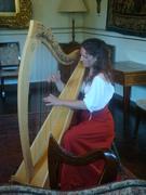 Photos harpiste et comédienne