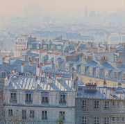"""Perspective atmospherique sur les toits de Paris"""
