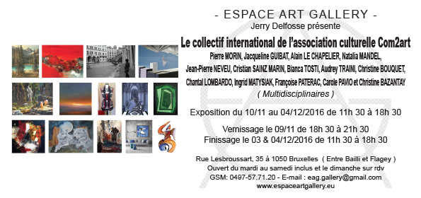 Invitation Le collectif international Com2art