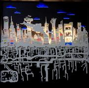 Les racines de la ville- Cut Art -97x97 cm