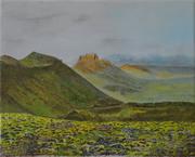 Sur la route 435, paysage d'Islande