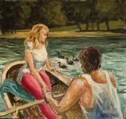 En barque au bois de Vincennes
