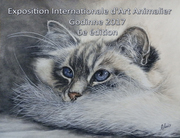 "Affiche du Salon International d'Art Animalier ""ART ANIMAL"" à Godinne en septembre 2017"
