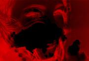 Portrait en rouge et noir