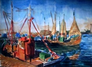 chalutiers à Zeebruges (1968)