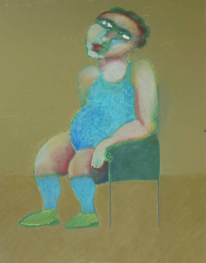 portrait en bleu