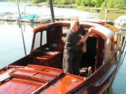 Sjösättning av Kantippa 09 022