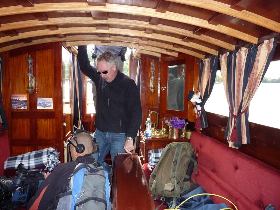 BBC inspelning ombord på Eystra