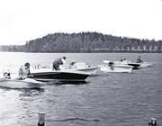 Starten i 1961 års turistbåt race på Norasjön