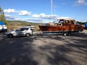 Stor båt, mindre bil