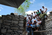Mi equipo de trabajo en la Pequeña Acrópolis Dzibanché 2009