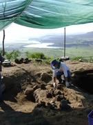 el principio del horno del Cerro del Teul
