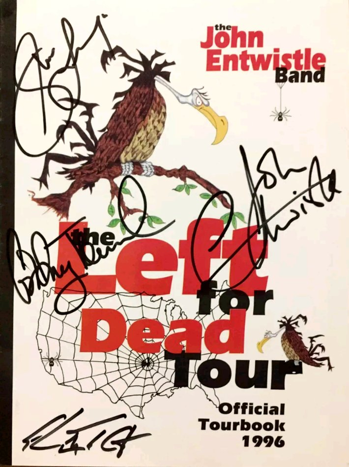 The John Entwistle Band signed 1996 tour program