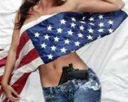 FLAG AND GUN