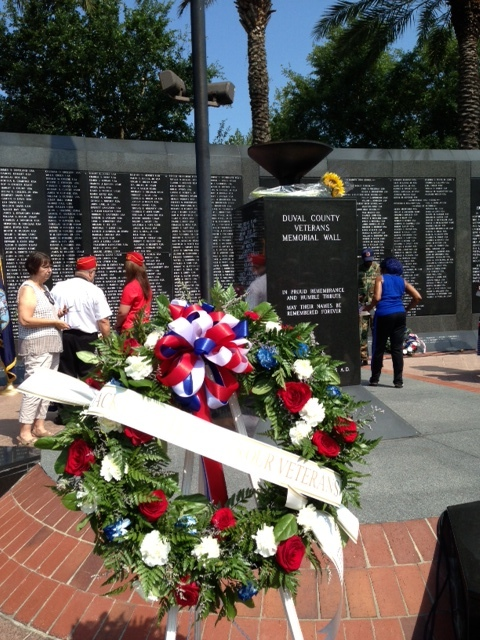 Memorial Wreath dedicated by the FCTP