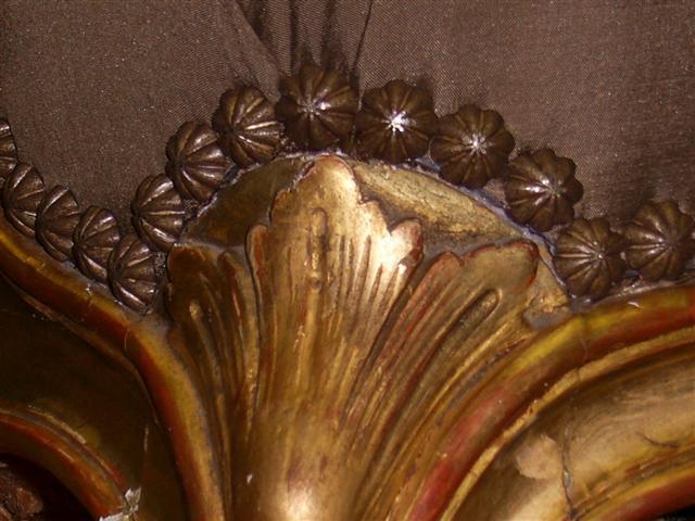 Silk, Studs & Gold leaf