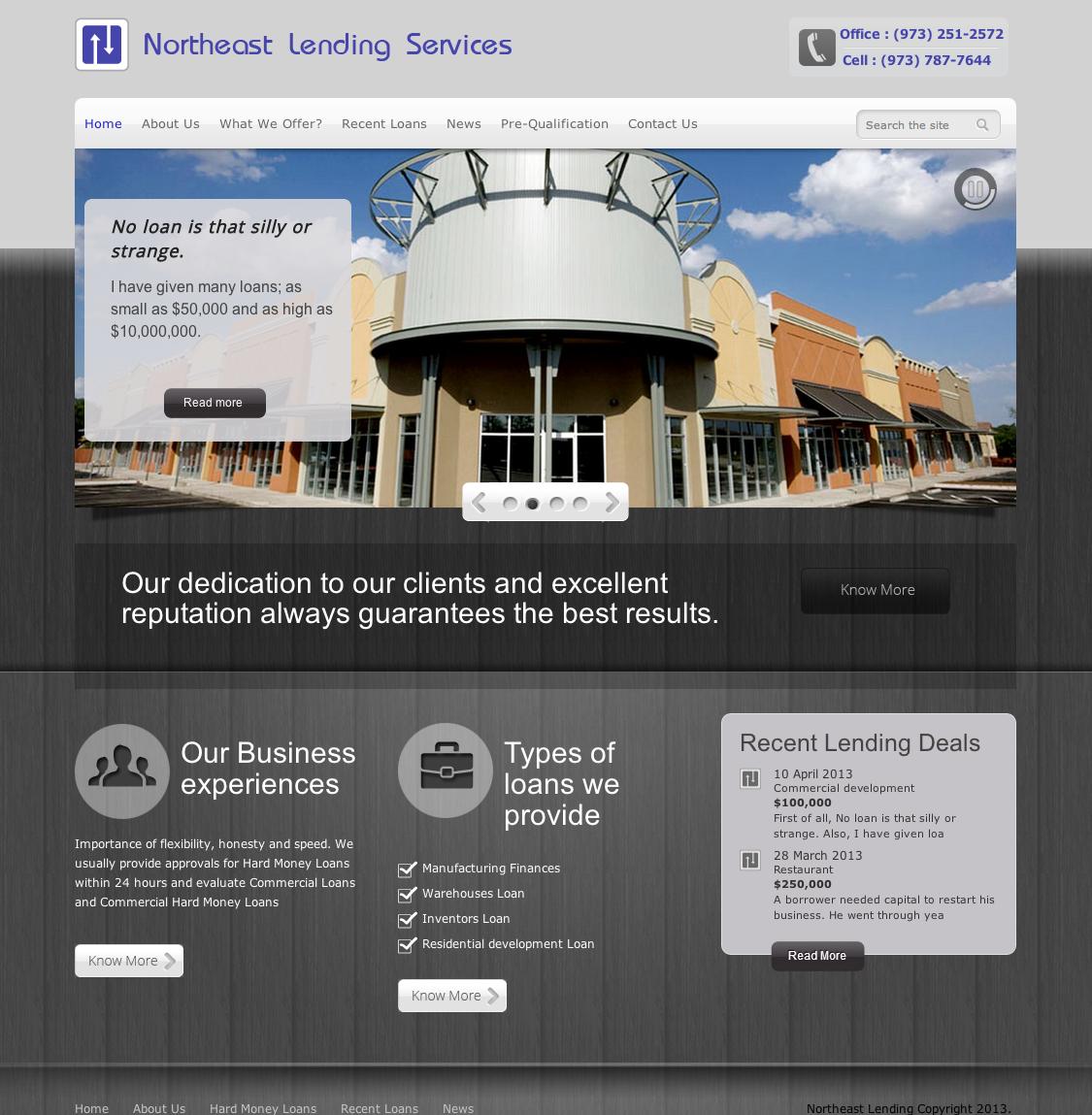 Money Lending Website Design