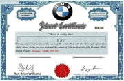 BMW WINNING CERTIFICATE RBG