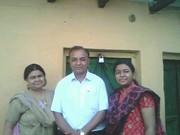 anwar suhail, mrs nazra paikar (wife) and daughter hina firdaus