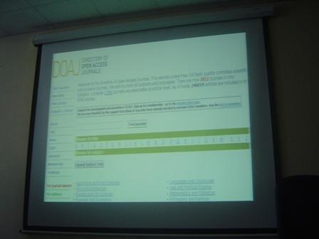 OA- Seminar at University of Alexandria
