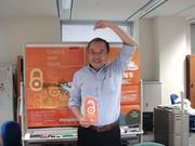 Jun Adachi, Professor, NII's #OAWeek doorhangers