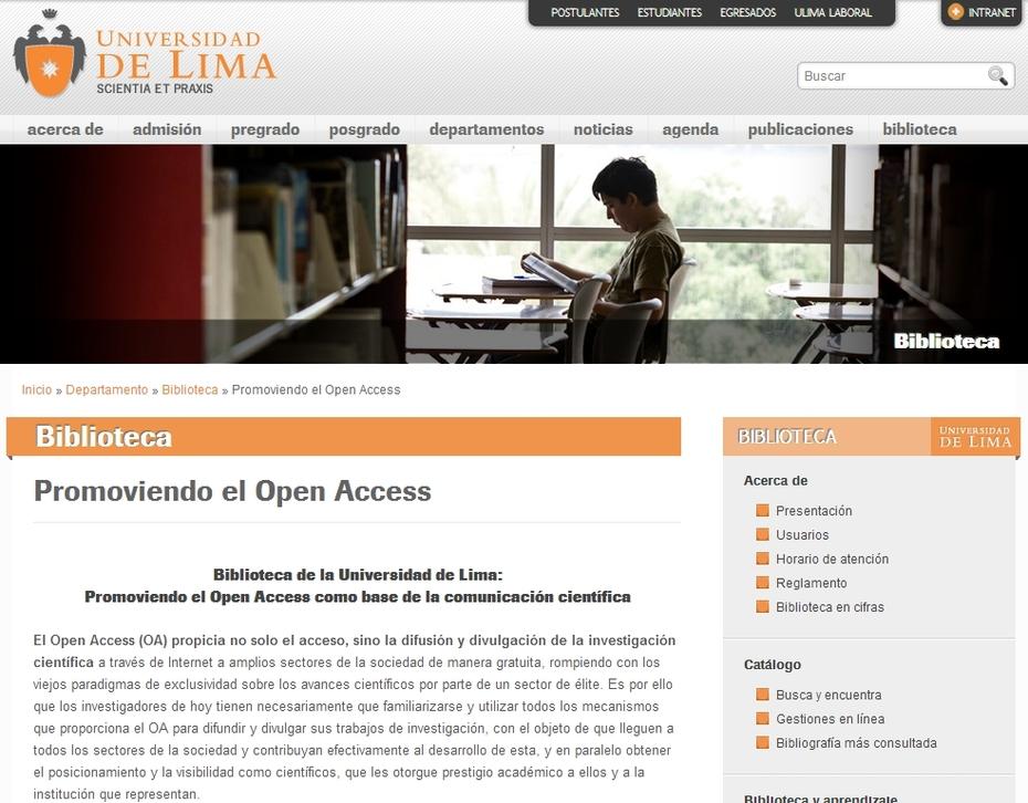 Universidad de Lima Promoviendo el Acceso Abierto