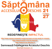 Romanian Open Access Promotionals - Open Access Week 2013