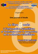"""Journée d'étude """"Le libre accès à l'Information Scientifique et Technique pour la promotion de la recherche scientifique"""""""