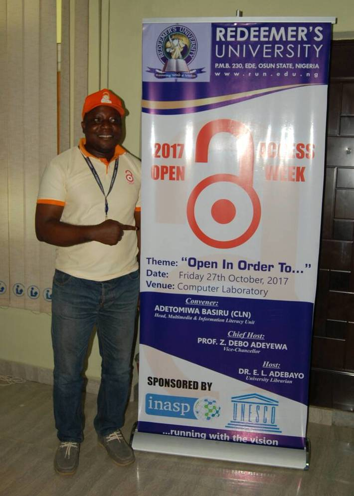 Open Access week 2017, Redeemers University