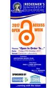 Redeemer's University open access week 2017