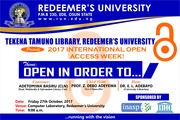 Open Access week Redeemer's University
