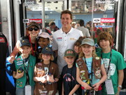 Troop #301 and Daytona 500 winner Trevor Bayne!