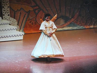 Caitlin Driscoll, circa 1989, as a Nutcracker Angel