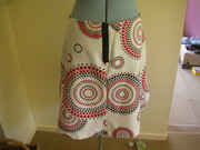circle skirt - back view