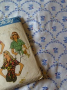 70s pattern & red, white, & blue fabric